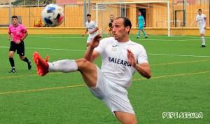 Ismael César, durante el partido del sábado pasado ante el San Roque de Lepe