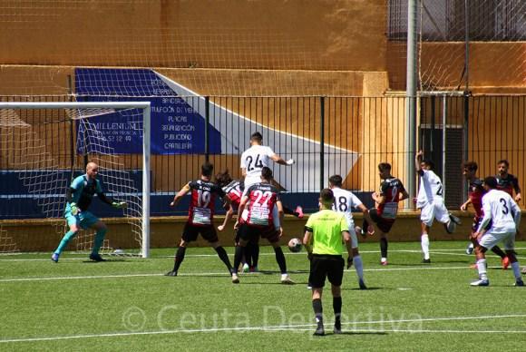 El Ceuta ha estado cerca de adelantarse en el marcador en varias ocasiones