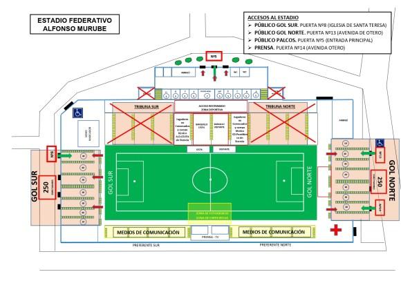 Plano del Alfonso Murube con la distribución de público detallada
