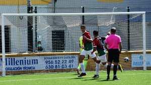 Jugadores del Sporting celebran uno de sus goles ante el Fundación Lucena