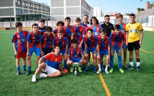 El Puerto Atlético, con el trofeo de subcampeón