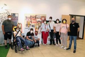 Jóvenes de PROI Ceuta, este miércoles en la Ciudad del Fútbol de Ceuta / Foto: FFCE