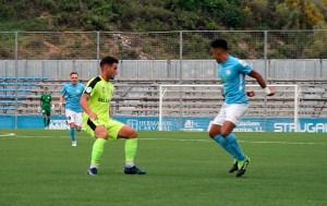 David Hinojosa, durante el partido del pasado domingo en el 'Ciudad de Lucena'