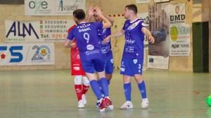 Los jugadores del Manzanares celebran uno de sus goles