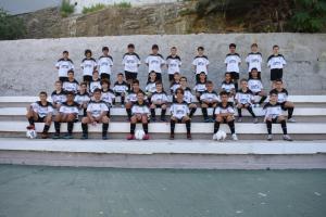 Los alumnos del primer turno, este lunes en el José Benoliel