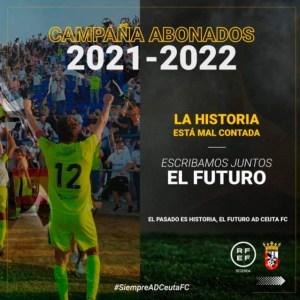 Cartel de la campaña de abonados del Ceuta