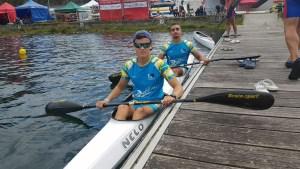 Raúl García e Ilias Mohamed, componentes del K2 Junior de Los Delfines