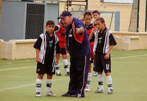Eugenio Canas, durante un entrenamiento en el 'José Benoliel'