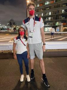 Isa Contreras y Pau Gasol, en Tokio