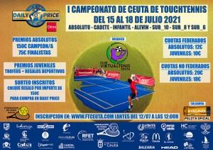 Cartel del campeonato de touchtennis que queda aplazado