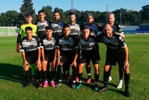 Formación de la AD Ceuta FC 'B', este jueves en Castellar