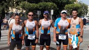 Los integrantes del Club Tridingo que han participado en el Triatlón Villa de Estepona