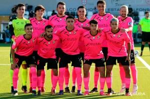Formación de la AD Ceuta FC 'B' en el partido de presentación ante el primer equipo
