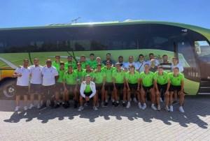 La expedición del Ceuta B, durante el viaje a Huelva