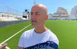 Chus Trujillo, tras el partido ante Las Palmas Atlético