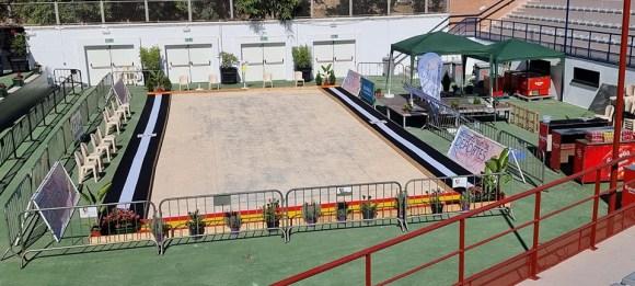Imagen de la pista central que se ha instalado en el Auditorio de la Marina