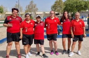 El equipo femenino del Zurrón, en una de sus partidas