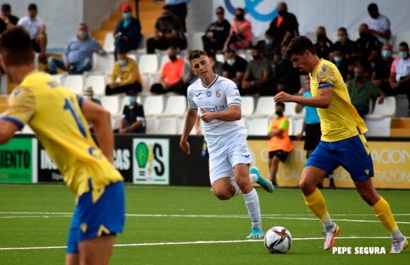 Alberto Reina, durante el partido del pasado domingo ante el Vélez CF
