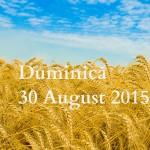 Duminică 30 august 2015