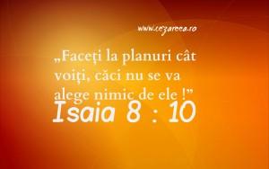 Isaia 8.10, Planuri câte voiţi