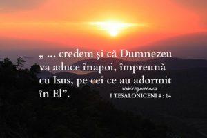 Dumnezeu va aduce înapoi, I Tes. 4. 14