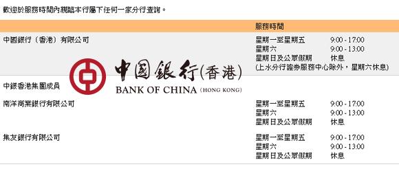 香港中國銀行營業時間2019【專家解答】