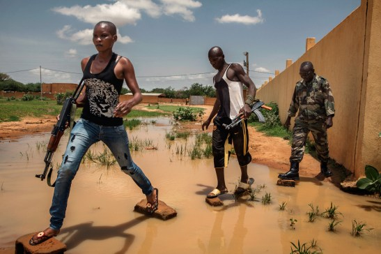 """Africa, Mali, Mopti. 31/07/2012. Some members of the militia FLN """"Liberation des Regions du Nord"""" are seen during the training. These haphazard citizen militias have something the regular Malian Army here appears to lack: a fierce will to undo the jihadist conquest of northern Mali."""
