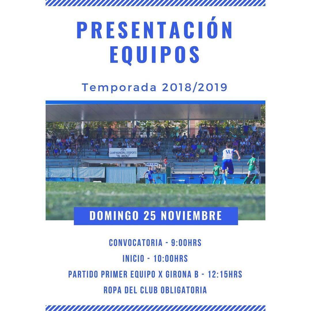 Presentación equipos temporada 2018-19.⚪️🔵 #cfcanvidalet  #canvidalet  #orgulloysentimiento  #esplugues  @ajesplugues