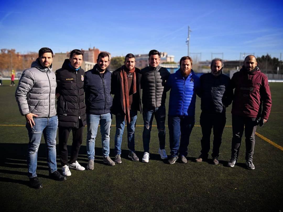 ⚽️⚽️|Reencuentro con Pol García, Dario Rodríguez y Pol Deulonder, ex entrenadores de nuestra entidad, en el amistoso del juvenil A contra el cadete A del RCD Espanyol