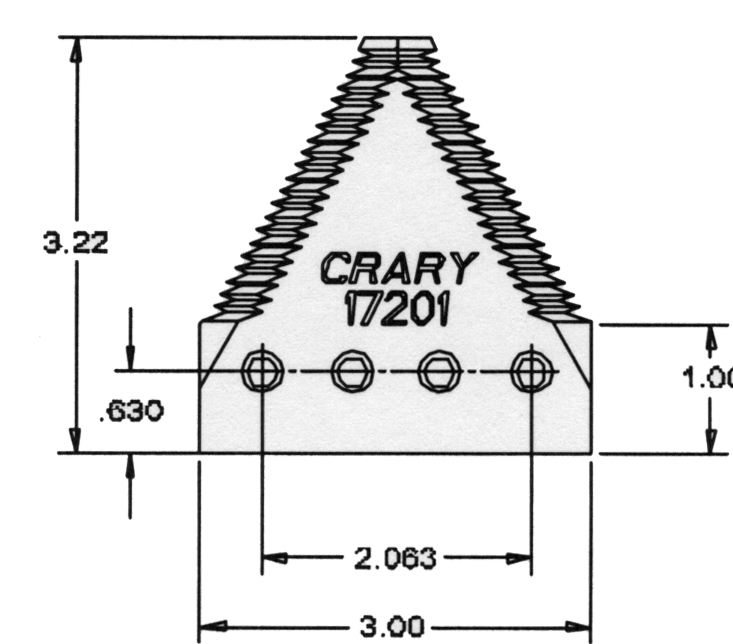 CFC Distributors, Inc.. Section, big tooth for Crary