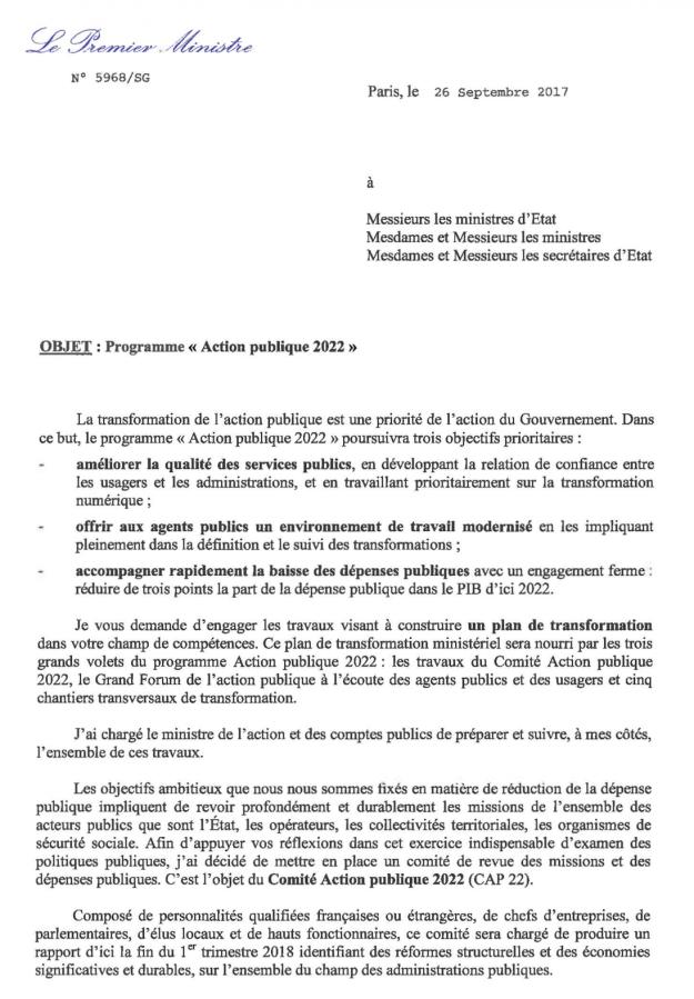 Programme Action publique 2022 Réforme de la fonction publique page 1 sur 2