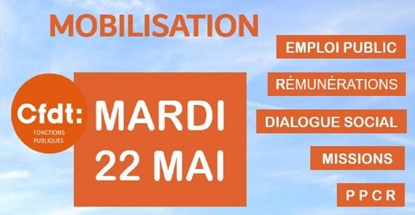 Mobilisation CFDT 22 mai