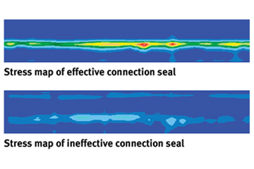 Stress Maps of Connection Seals