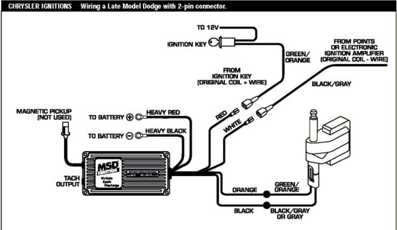Msd Ignition Wiring Diagram For Coil Pack