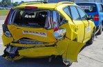 car with rear damaged