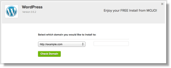 wordpress check domain install bluehost