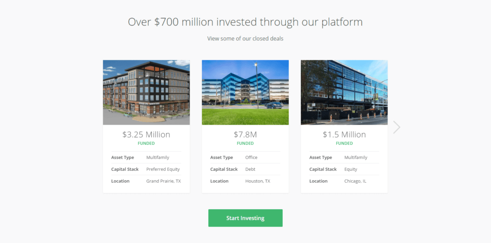 RealtyShares investment options
