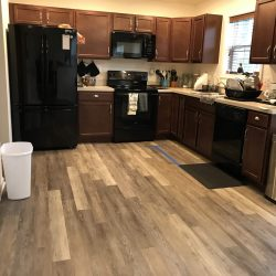 Luxury Vinyl Plank in Kitchen