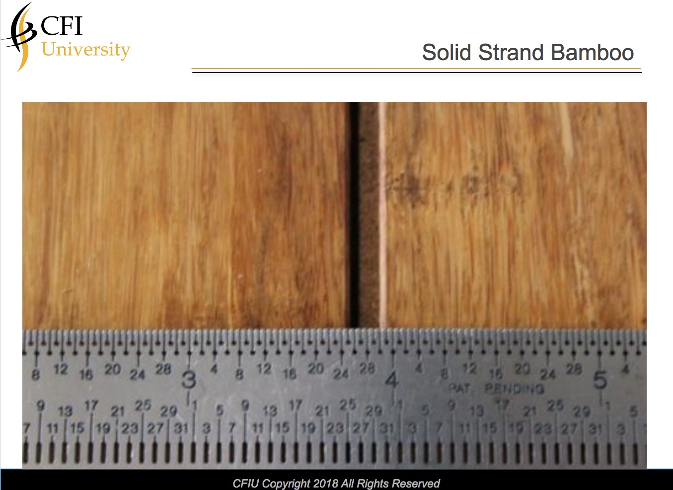 Solid Strand Bamboo Flooring Inspection Online Course