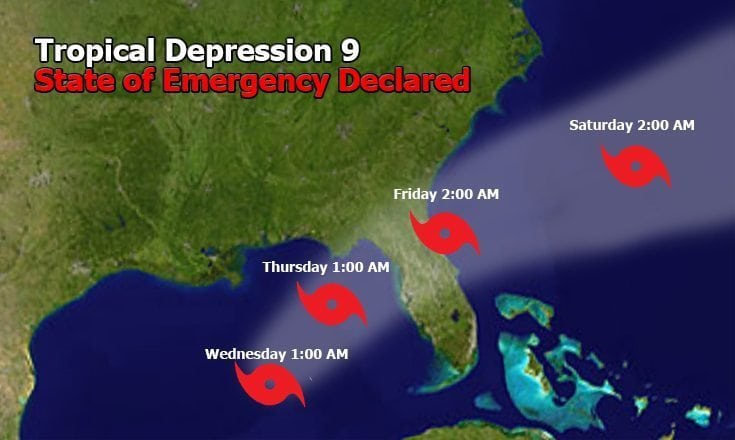 State of Emergency declared for Tropical Storm Nine