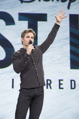 Chris Pine at D23 Expo. Photo copyright Disney.