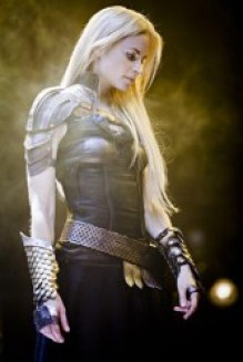 Archangel Uriel, played by Katrine De Candole