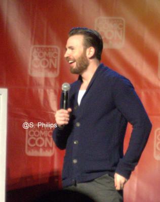 Chris Evans at Salt Lake City Comic Con.  Photo copyright Suzanne Philips