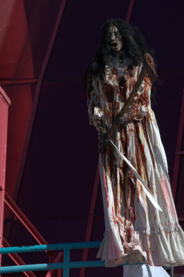Las Vegas's Fright Dome welcomes visitors .  Photo copyright Larry Cunningham
