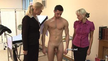 femdom spanking erection