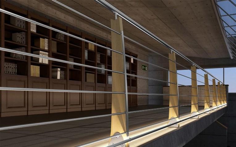 Balaustre di design in legno
