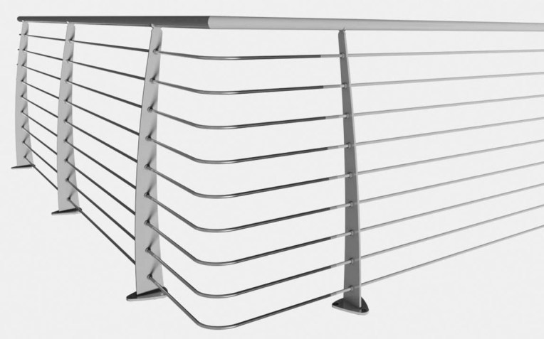 Balaustra in acciaio per interni e esterni