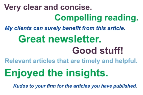 CFO Services Newsletter Comments
