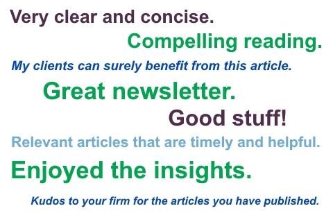 CFO Services Newsletter Comments
