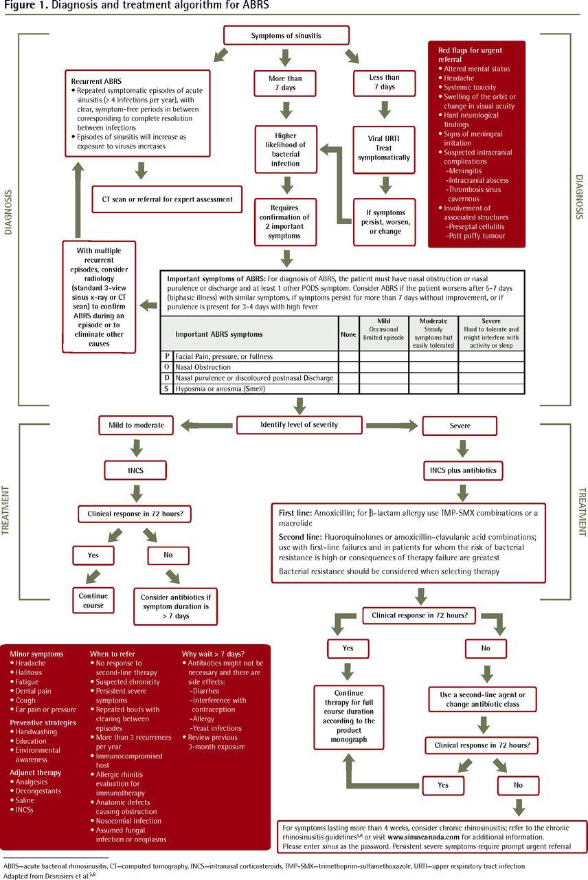 Canadian Guidelines For Acute Bacterial Rhinosinusitis